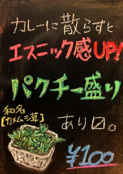 パクチー盛り100円
